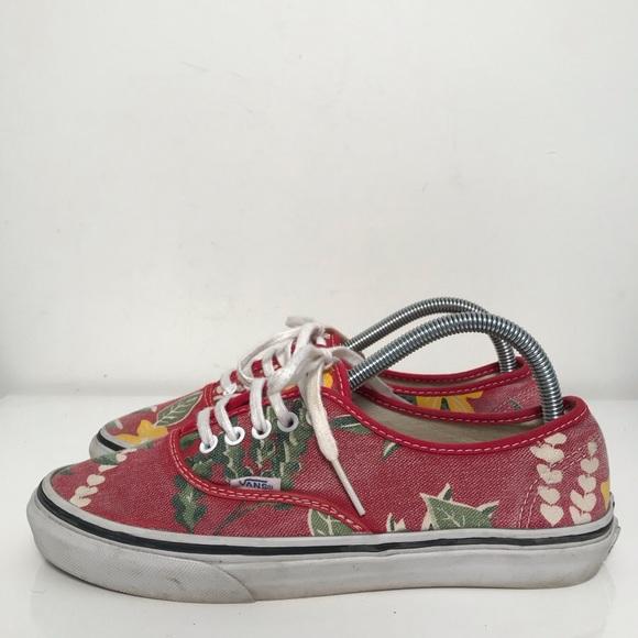 99734da4 Vans Shoes   Van Doren Floral Authentics   Poshmark